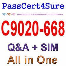 IBM Best Practice Material For C9020-668 Exam Q&A PDF+SIM