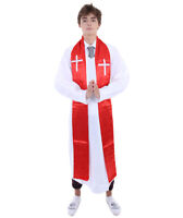 Priest Religious Father Costume White Robe Cosplay Halloween Fancy Dress HC-066