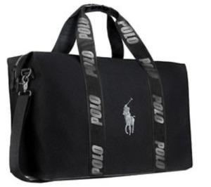 Ralph Lauren Black 'Polo' Duffle /Holdall /Weekend /Travel /Sports Bag,New