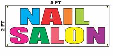 Nail Salon Multi Colored Banner Sign 2x5