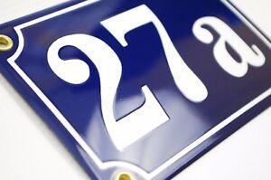 Personalised enamel house number plaque 10x15cm WARRANTY-10yrs door address sign