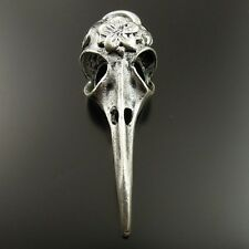 5pcs Vintage Silver Alloy Bird Skull Charm Pendant Jewelry Craft Finding