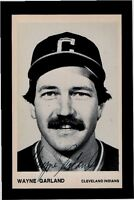 WAYNE GARLAND-CLEVELAND INDIANS AUTOGRAPHED GLOSSY  POSTCARD  PHOTO-NM