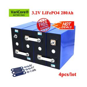 Lifepo4 280Ah NEW 4PCS 3.2C BatteryPack 12V24V Phosphate For Electric Car Solar✅