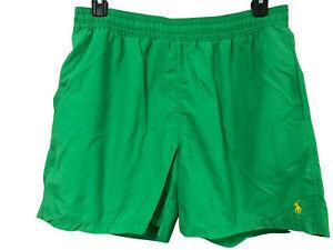 Polo Ralph Lauren Mens Green Swim Trunks Swimsuit XXL 2XL Lined Elastic Waist