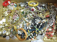 Vintage 12 Pc Jewelry Lots NO Broken * Earring Broche Pins Necklace Watch Ring