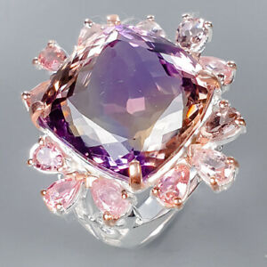 Ametrine Ring Silver 925 Sterling Luxury Jewelry Design Size 8 /R133527