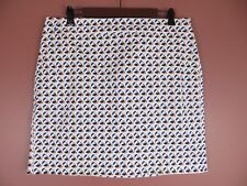 SK12020- ANN TAYLOR Madison Womens 97% Cotton Pencil Pockets Multi-Color Sz 12