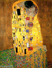 The Kiss by Gustav Klimt /Vintage painting reproduction/17x22 inch