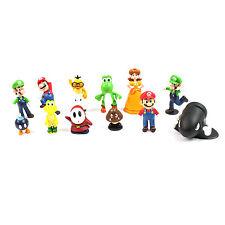 Super Mario Bros Figures Toys - 12 Pcs Set Action Characters 3cm - 7cm