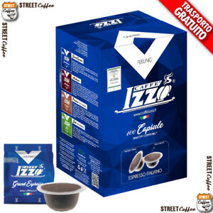 100 Cialde Capsule Caffè Izzo Blu Grand Espresso compatibile Bialetti gratis