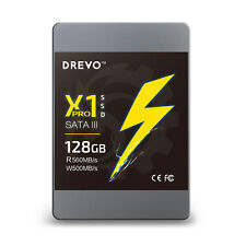 """DREVO X1 Pro SSD 128GB 2.5"""" Internal Solid State Drive SATA3 R 560MB/S W 500MB/S"""