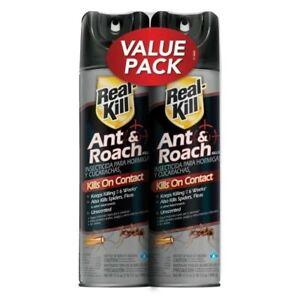 real-kill ant and roach killer 17.5 oz. aerosol spray (2 PK) /Read Shipping Info