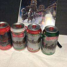 2020 Budweiser  Stein Christmas Holidays Cans Bottom Opened