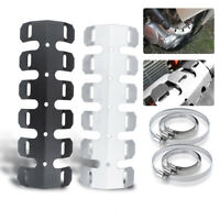 Motorcycle Exhaust Muffler Pipe Heat Shield Cover Heel Guard Protect Universal
