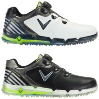 Callaway Mens Xfer Fusion Spikeless BOA Golf Shoes -Waterproof Leather Tour