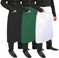 Chef Long Bistro Apron Chefs Waist / Waiter Waitress Cafe Bar Apron With Pocket