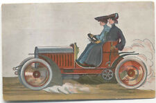 Veteran Car Lady driver by Wallenberg Max Ettinger Ref 4763 Car Posted