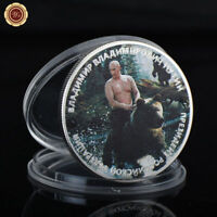 WR Vladimir Putin on Bear Russian President Novelty 1 Oz Silver Coin Funny Gifts