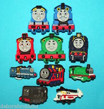 Thomas the Tank Engine Shoe Decorations 10 Train Charms Party Favours Cakes NEW