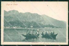 Como Cadenabbia Lago di Como Barche PIEGHINA cartolina VK0203