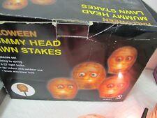 HALLOWEEN MUMMY HEAD LAWN LIGHTS  STAKES
