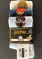 3 Paar Harry Potter Damen Socken Hermine Ron Mädchen Strümpfe Set 37-42 Primark