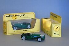 2 Matchbox Models of Yesteryear Y-1 1936 Jaguar SS100 Sports Cars (green), 1:38
