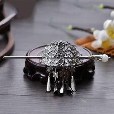 HORQUILLA de pelo chino Palillos Flor Hairpin Mono pin de palo pendiente conjunto