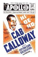 Cab Calloway at the Apollo Postcard Jazz Vintage Harlem New York City TPC-A