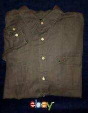 GREG NORMAN Men's Golf Button Up Long Sleeve Dark Gray 100% Cotton Sz XL EUC