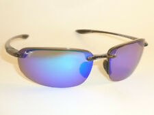 New Authentic Polarized MAUI JIM HOOKIPA Sunglasses Smoke Grey B407-11 Blue Lens