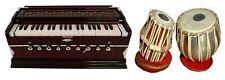 Combo of Laying Style Harmonium 9 Stopper Chudidaar Bellow 42 Key & Tabla Set