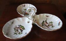 Herend Rothschild Bird 3 Part Relish Dish/Tray