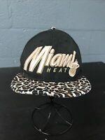 🌴🏀New Era 9Fifty NBA Miami Heat SnapBack Cap Hat One Size Cheetah 🌴Free Ship