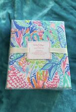 Lilly pulitzer pottery Barn Mermaids cove Queen Sheet Set