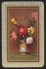 1 Single VINTAGE Swap/Playing Card FLOWER VASE Art Sign LOCKDAIL GOLD NOT mini