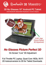 "3D  Tablet 10.1"" Android 4.4, 2D to 3D,  Autostereoscopic"