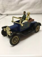 Dinky Toys Meccano 475G Ford Model T Car w/Figures 1964 Blue Made in England