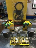 "03'-17' Polaris Indy 550 Top End Kit, Pistons, Gaskets, .020""/.50mm Over 73.50mm"