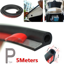 5M Rubber Small P Type Car Door Seal Strip Soundproof Sealing Strip Weatherstrip