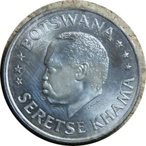 elf Botswana 50 Cents 1966 B  Zebra  Horse  Proof