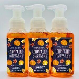Lot of 3 Bath & Body Works PUMPKIN CUPCAKE Gentle Foaming Hand Soap 8.75 fl.oz