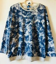 Geeps blue and grey printed sweater