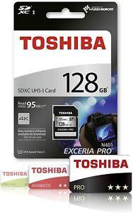 Toshiba EXCERIA PRO - N401 128GB SDXC UHS-I Class 3 memory card