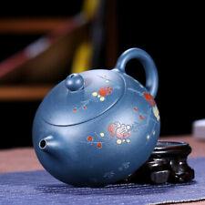 wintersweet carved xishi pot real yixing zisha republic green clay tea pot China