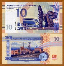 Poland, Katowice, 10 Zlotych, Private Issue, Specimen, Essay, 2017, UNC