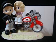 cd Precious Moments-Harley Motorcycle Couple-You're My Road To Happiness-LE/3000