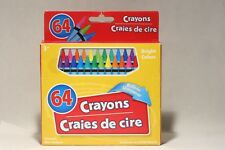 Vintage 64 Crayons Craies De Cire Bright Colors Built-In Sharpener Thailand