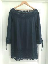 EUC Navy PHILOSOPHY DI ALBERTA FERRETTI Cotton Dress Size US 6